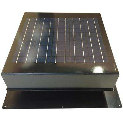 20-Watt 1280 CFM Gray Solar Powered Attic Fan