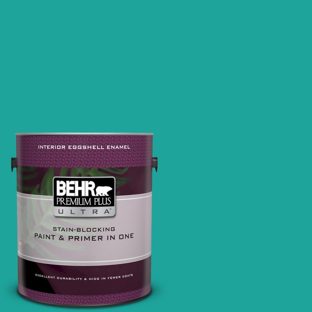 BEHR Premium Plus Ultra 1 gal. Home Decorators Collection #HDC-MD-22 Tropical Sea Eggshell Enamel Interior Paint & Primer