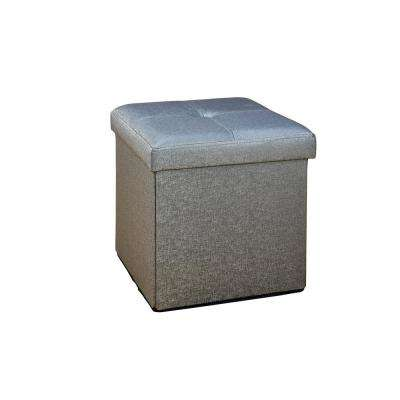 Metallic Pewter Single Folding Ottoman