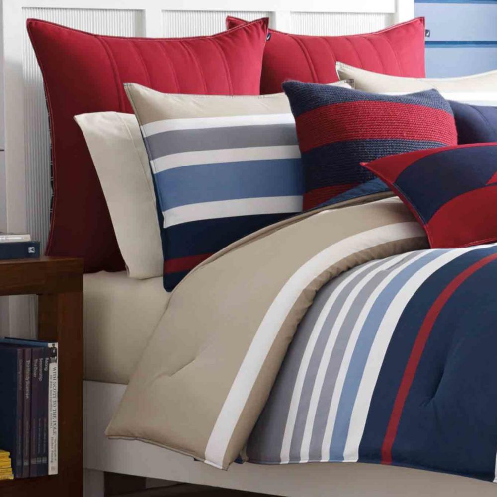 Bradford Navy Striped Duvet Cover Set