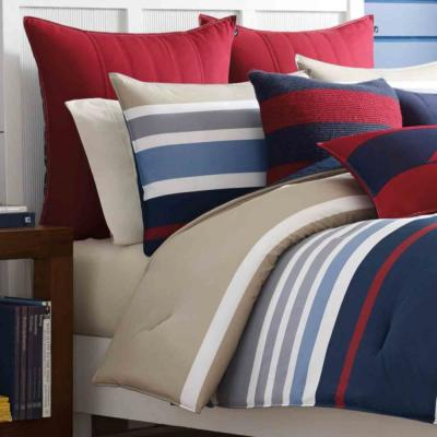 Bradford Navy Striped Duvet Cover Set