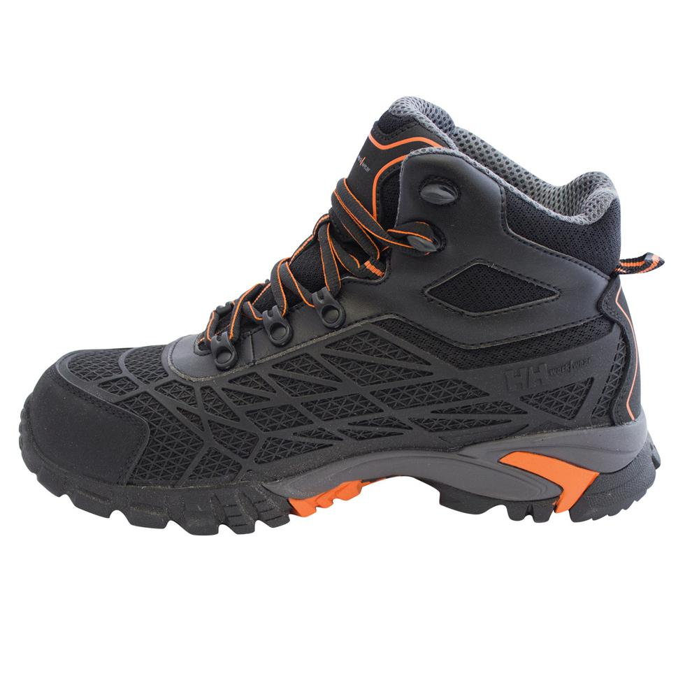 2321da46eac Helly Hansen Terreng Mid Men's Size 8 Black/Orange Nylon Mesh Puncture  Resistant Waterproof Composite Toe Work Boot