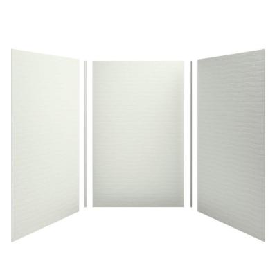 Choreograph 60 in. x 96 in. 3-Piece Easy Up Adhesive Alcove Shower Surround Walls in Dune