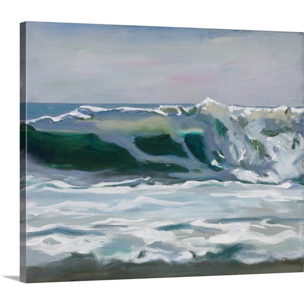 """""""Shore Break II"""" by Stephen Newstedt Canvas Wall Art"""