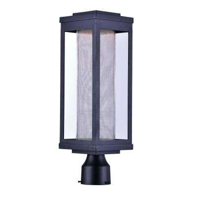 Salon 6 in. Wide 1-Light Outdoor Black Integrated LED Post Light