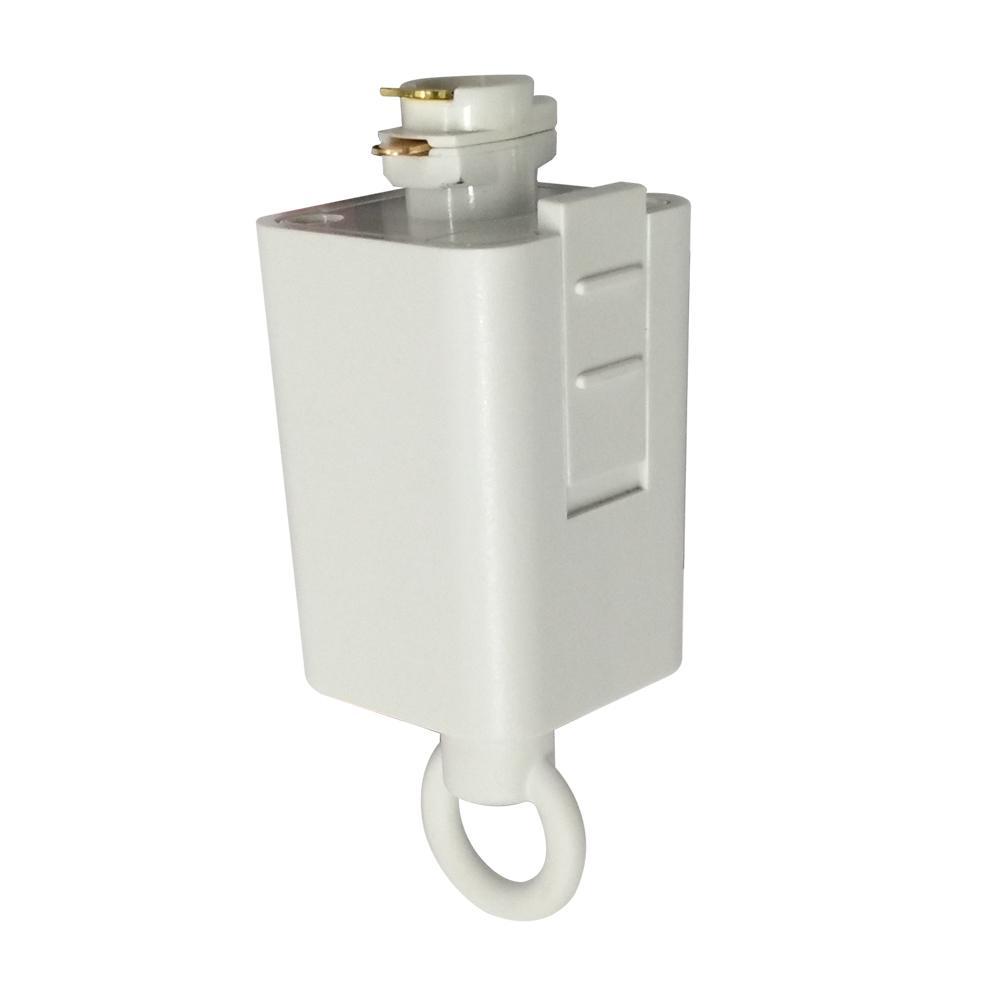 120-Volt 150-Watt White Linear Track Pendant or Chandelier Adapter