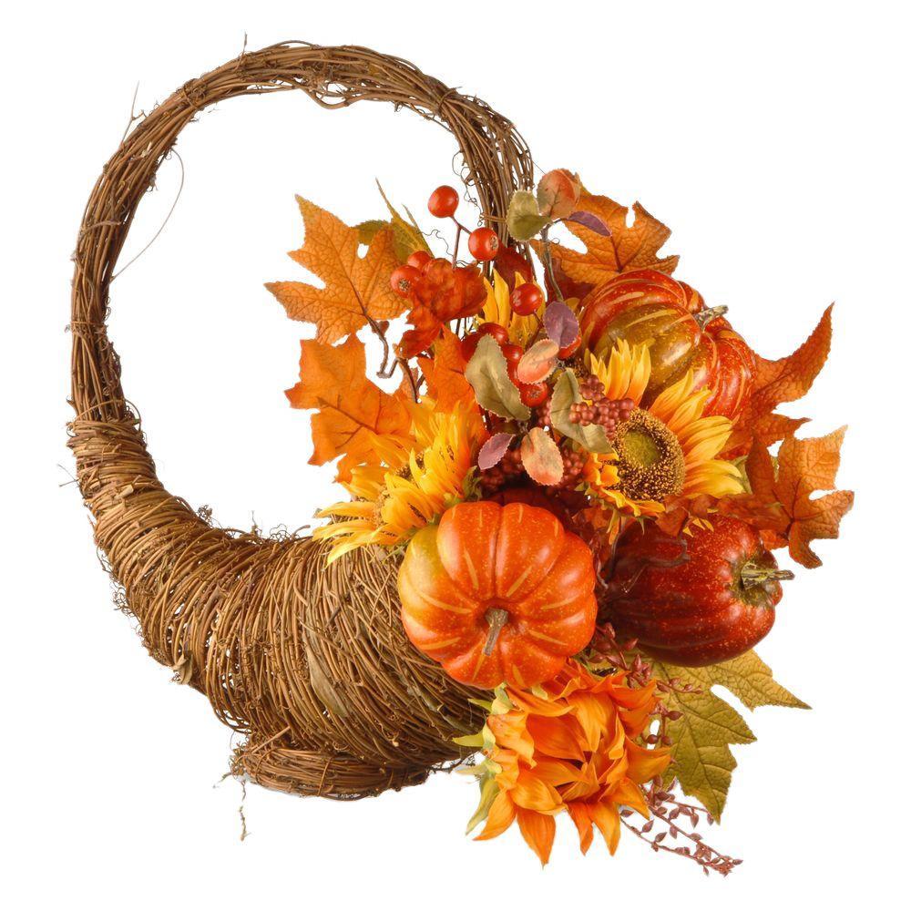 Harvest Accessories 22 in. Autumn Cornucopia Basket