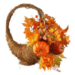 National Tree Company Harvest Accessories 22 In Autumn Cornucopia