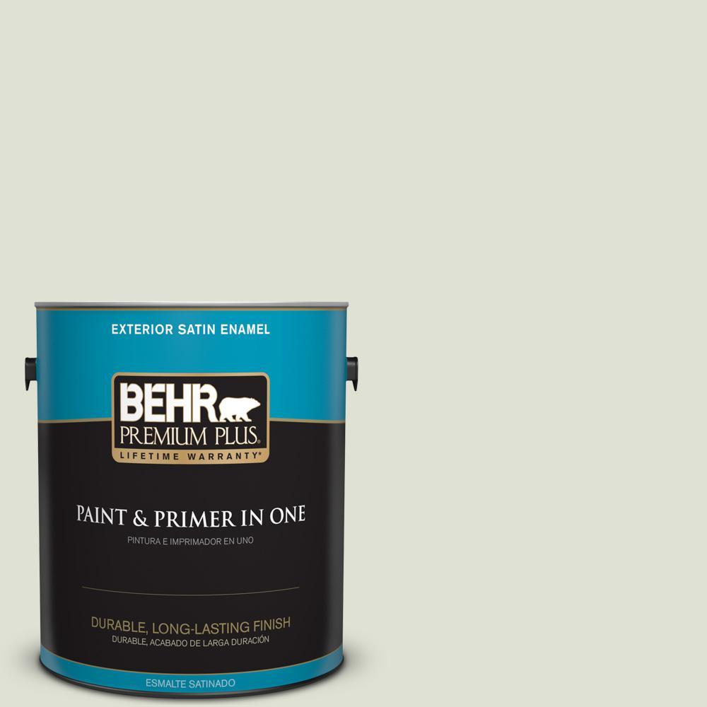 1 gal. #PPU10-12 Whitened Sage Satin Enamel Exterior Paint