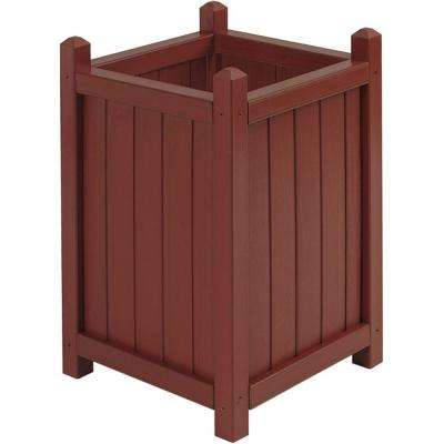 16 in. Square Tall Mahogany All Weather Composite Crown Planter