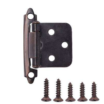 Oil Rubbed Bronze Traditional Variable Overlay Hinge (25-Pairs)