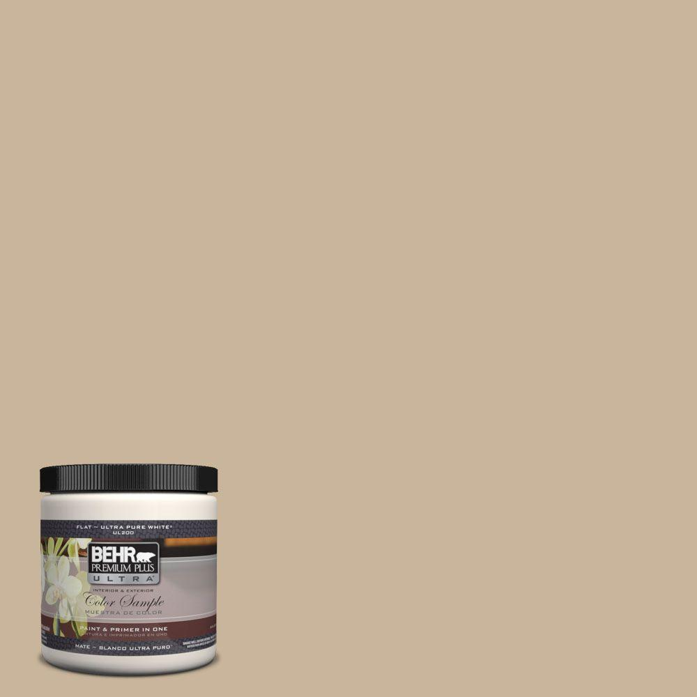 BEHR Premium Plus Ultra 8 oz. #UL140-10 Mushroom Bisque Interior/Exterior Paint Sample