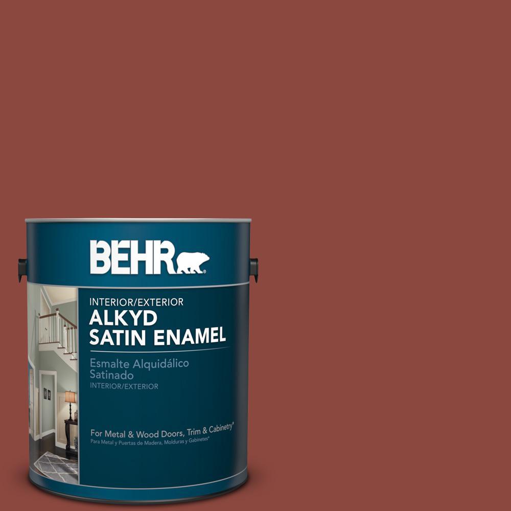 1 gal. #PFC-10 Deep Terra Cotta Satin Enamel Alkyd Interior/Exterior Paint