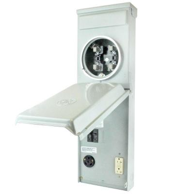 Metered RV Panel with 30 Amp RV Receptacle and 20 Amp GFCI Receptacle