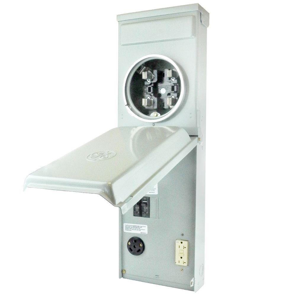 Ge Rv Outlet Box 100 Amp 120 240 Volt Ring Type Metered With 30 Amp And 20 Amp Gcfi Circuit