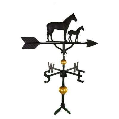 32 in. Deluxe Black Mare and Colt Weathervane