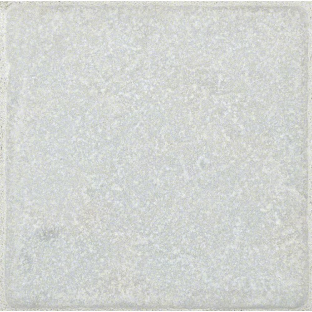 MS International Greecian White 4 in. x 4 in. Tumbled Marble Floor and Wall Tile (1 sq. ft. / case)