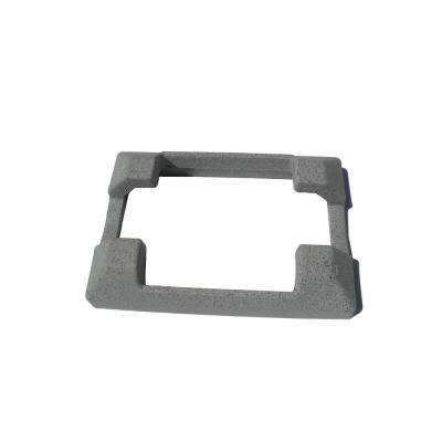 5 in. x 5 in. Composite Gray Fence Line Post Concrete Bracket Skirt