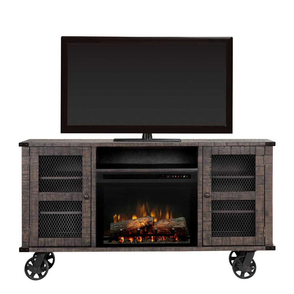 Duncan 66 in. Electric Fireplace TV Stand Media Console in Pinehurst