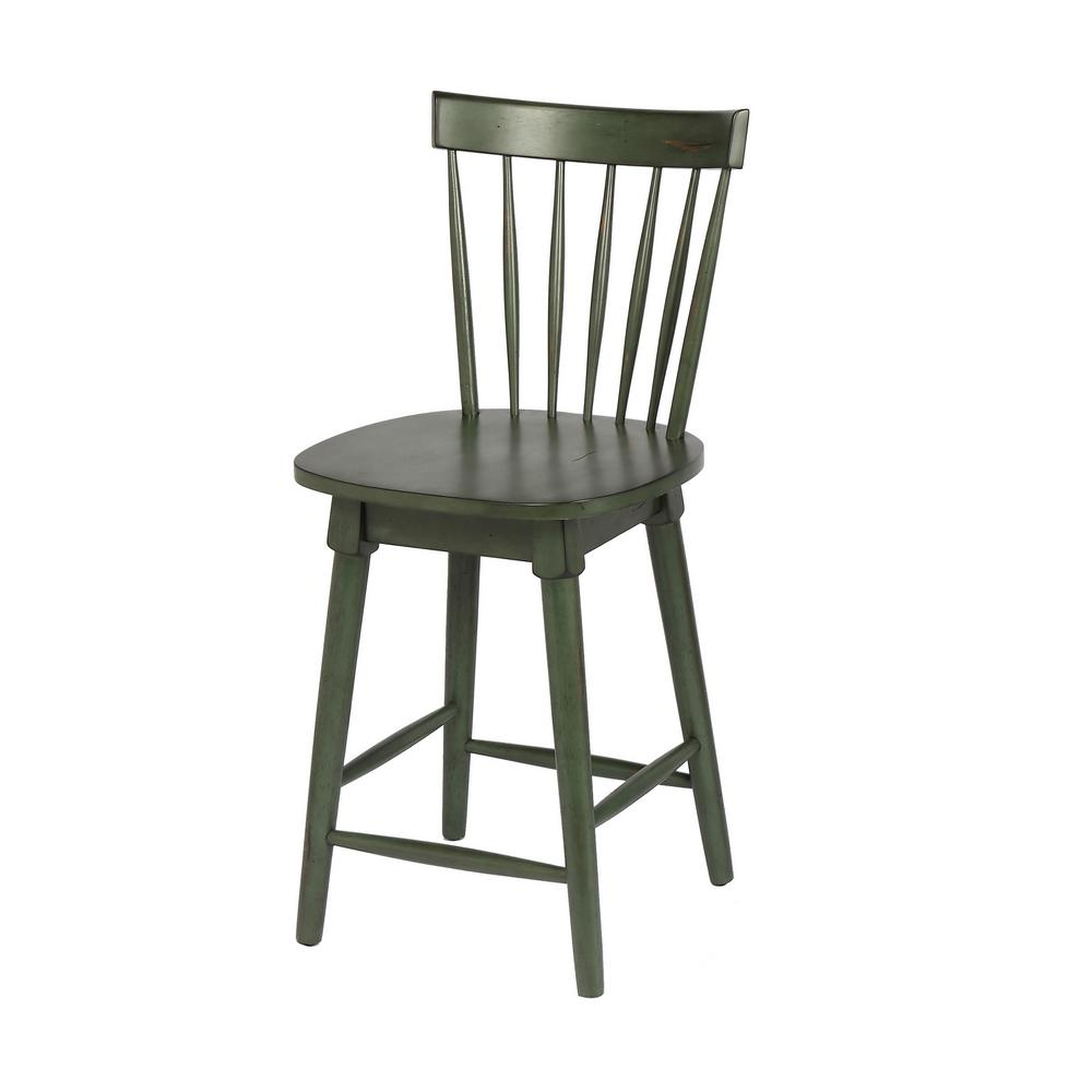 Green Counter Height Swivel Bar Stool (Individual)