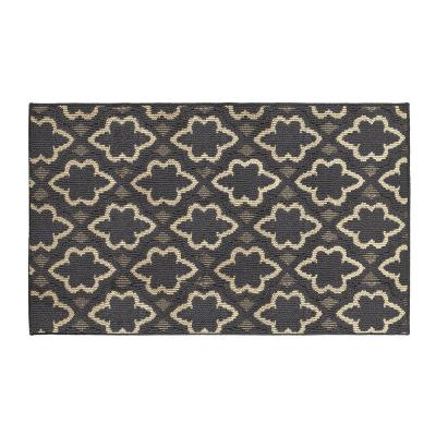 Dashi 32 in. x 56 in. Loop Accent Rug, Dk Grey/Berber