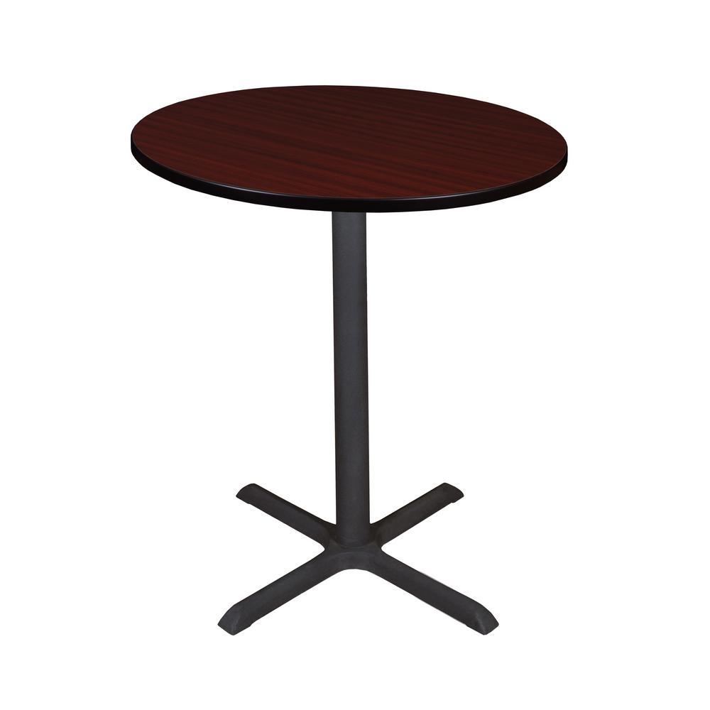 Regency Cain Mahogany 36 in. Round Cafe Table