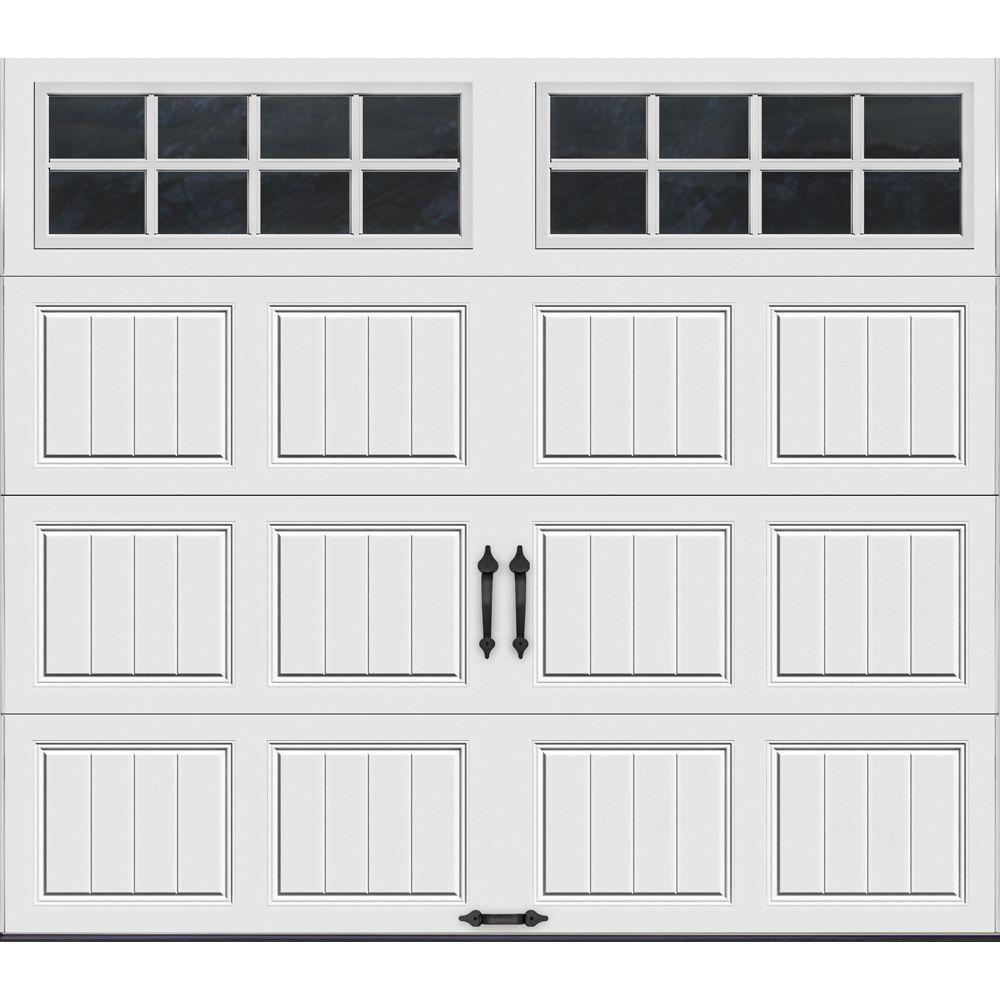 Clopay Gallery Collection 8 ft. x 7 ft. 6.5 R-Value Insulated White Garage Door with SQ24 Window