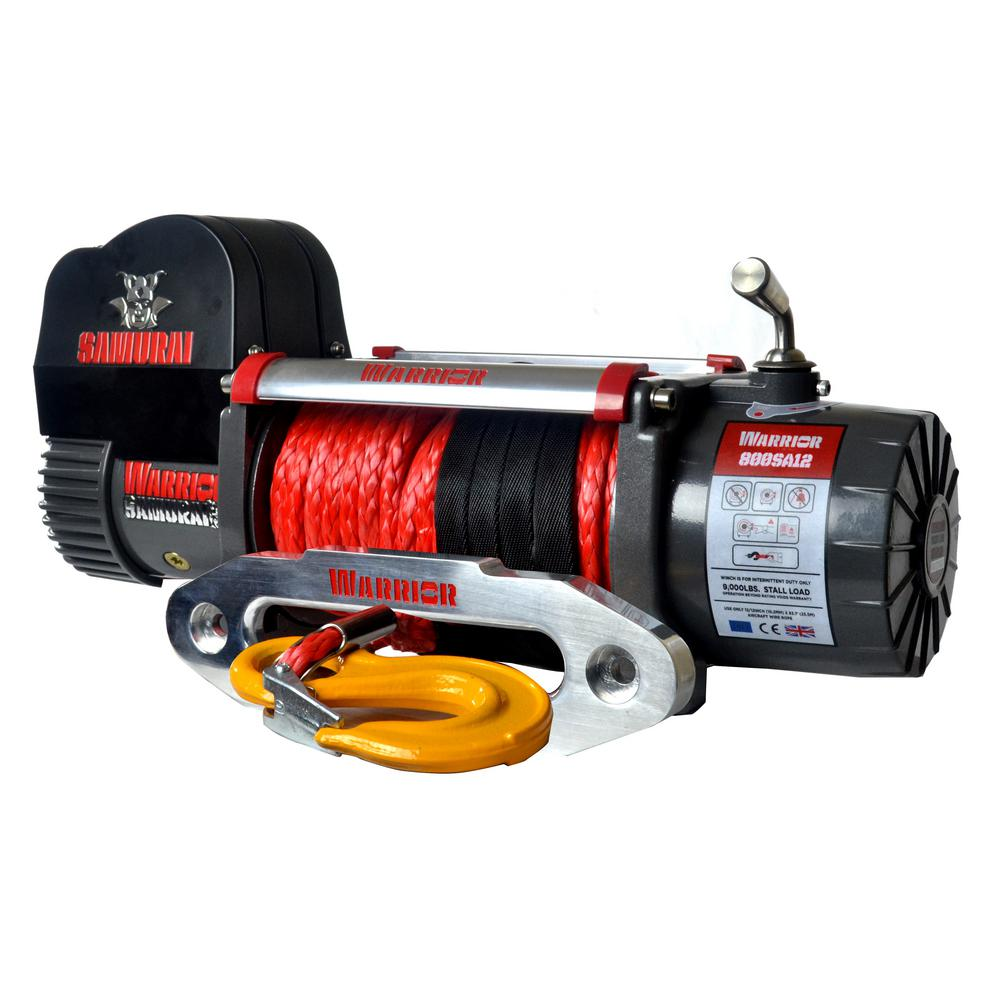 Samurai Series 8,000 lb. Capacity 12-Volt Electric Winch with 98 ft.