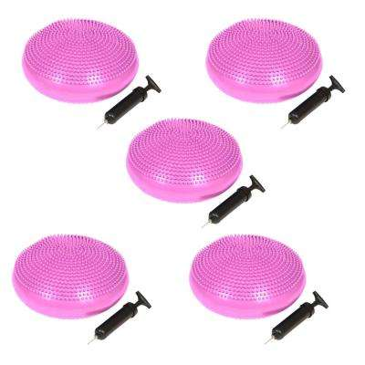 13 in. Dia PVC Fitness and Balance Disc-Pink (Set of 5)