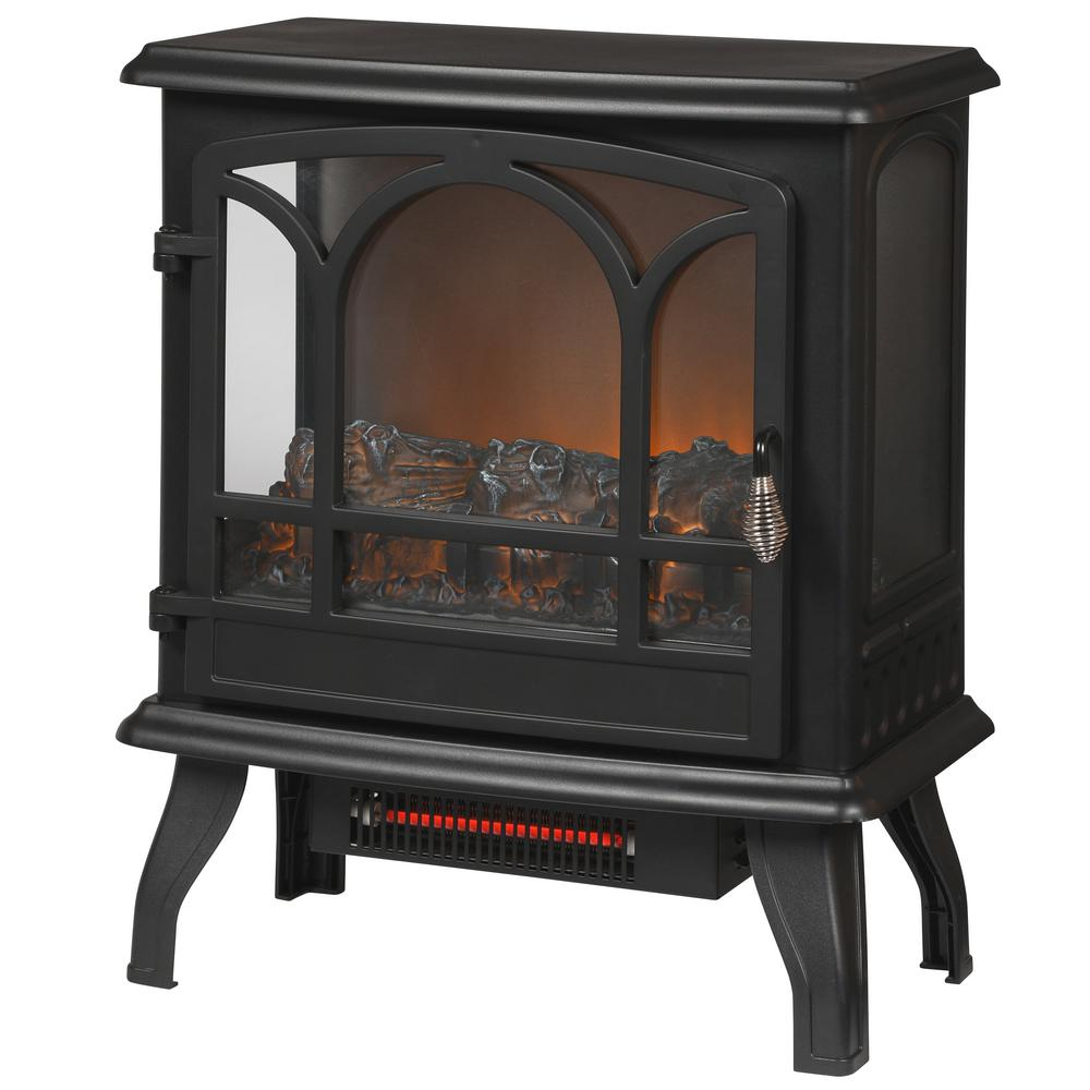 Legion 1,000 sq. ft. Panoramic Electric Stove in Black