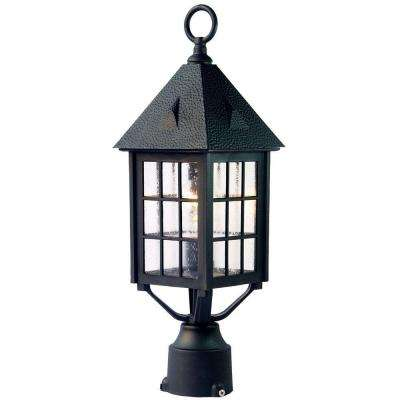 Outer Banks 1-Light Matte Black Outdoor Post-Mount Light Fixture