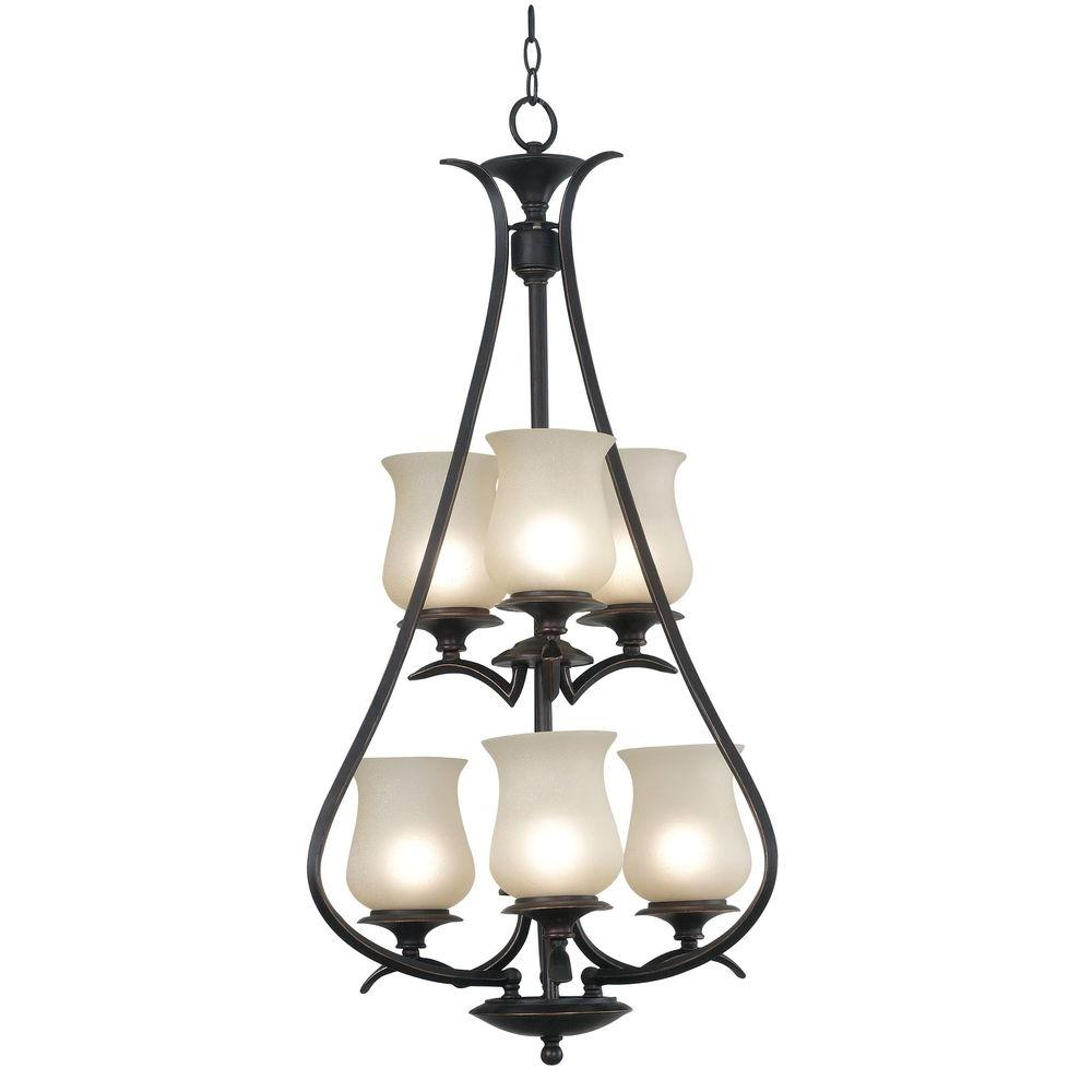 Kenroy Home Bienville 6-Light . Oil Rubbed Bronze Foyer Chandelier-DISCONTINUED