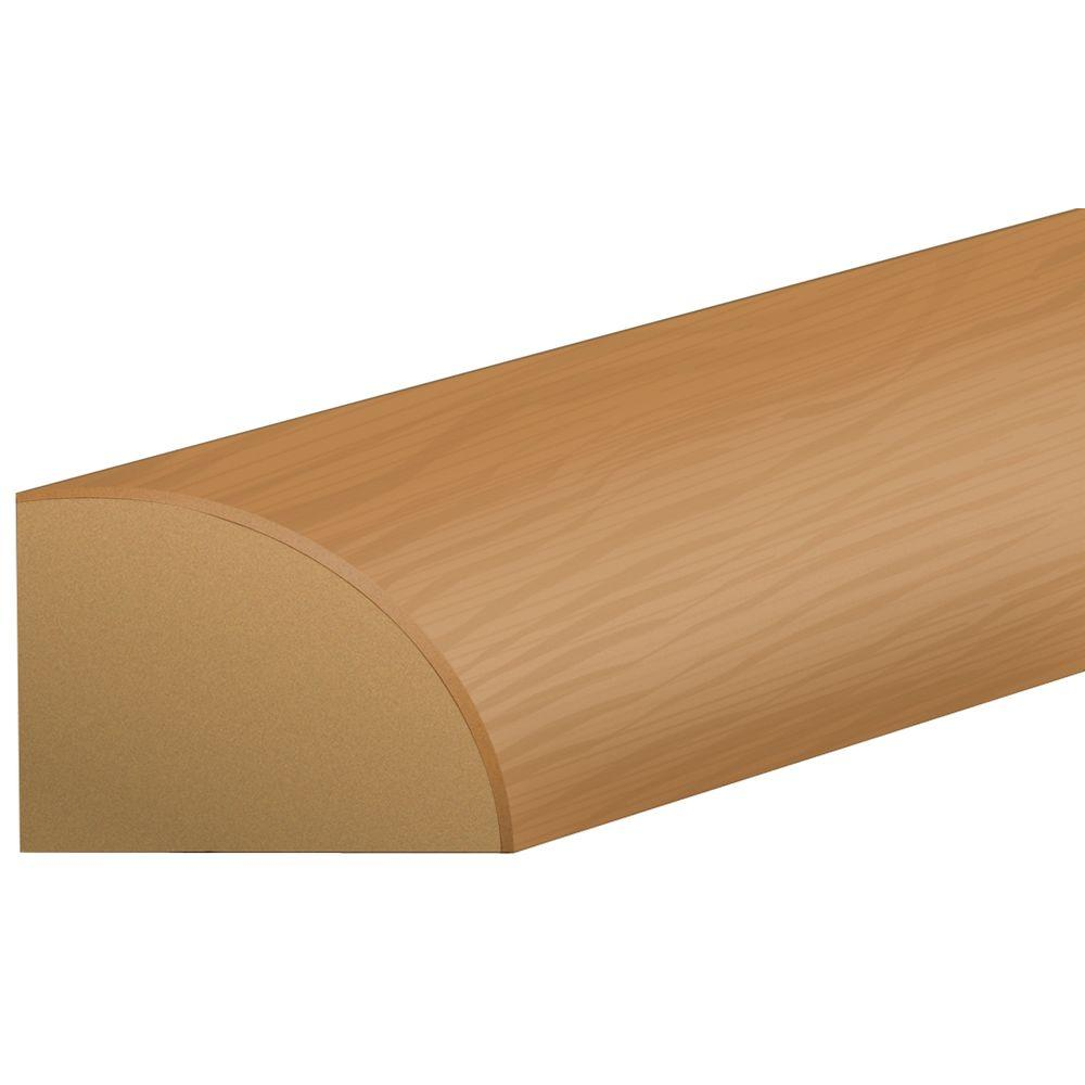 Shaw Hickory 0.75 in. Thick x 0.63 in. Wide x 94 in. Length Laminate Quarter Round Molding