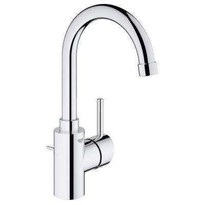 Concetto Single Hole Single-Handle High-Arc Bathroom Faucet in StarLight Chrome