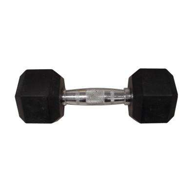 25 lb. Rubber Hex Dumbbell