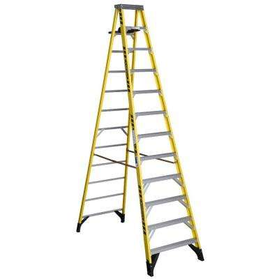 12 ft. Fiberglass Step Ladder with 375 lb. Load Capacity Type IAA Duty Rating