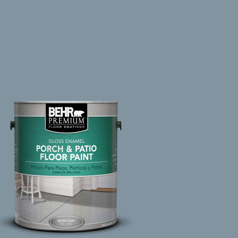 BEHR Premium 1-gal. #PFC-54 Blue Tundra Gloss Porch and Patio Floor Paint