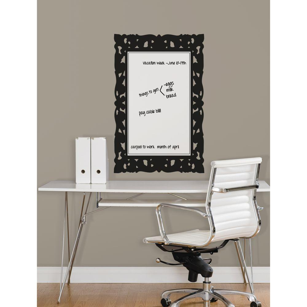 RoomMates 2.5 in. x 27 in. Ornate Frames Dry Erase Peel and Stick Wall Decals