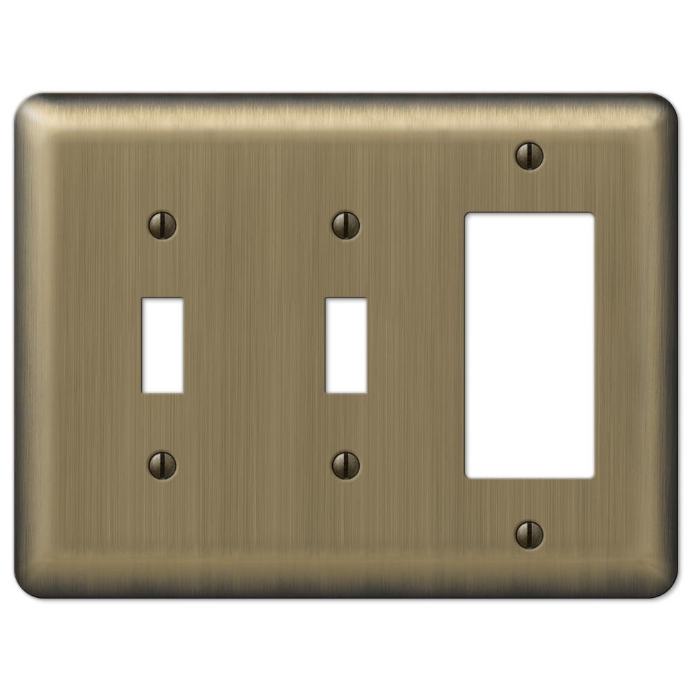 Brass 3-Gang 2-Toggle/1-Decorator/Rocker Wall Plate (1-Pack)