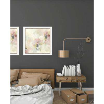 23.5 in. x 23.5 in. 'Cherry Blossom II' by June Erica Vess Fine Art Paper Print Framed with Glass Wall Art