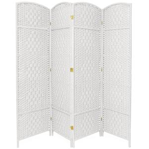 6 ft White 4 Panel Room Divider FBOPDMND4PWHT The Home Depot