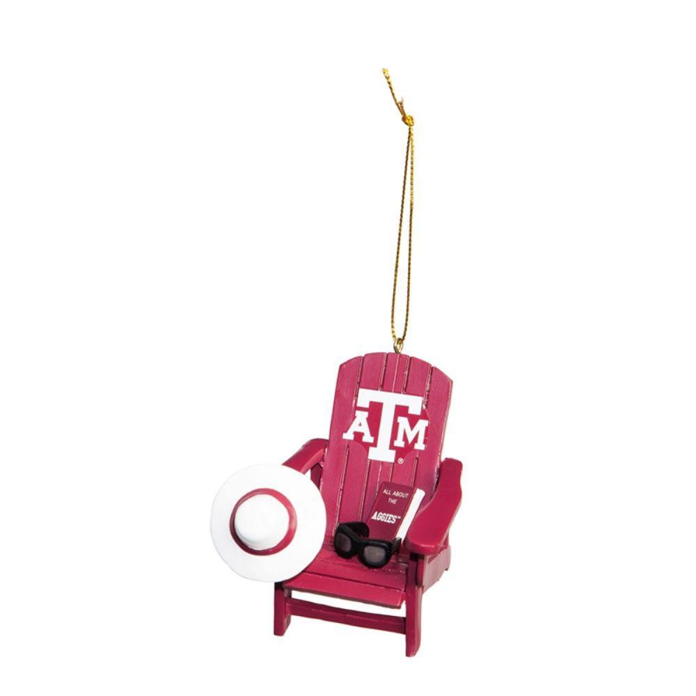 Texas A&M 3-1/2 in. NCAA Adirondack Chair Christmas Ornament