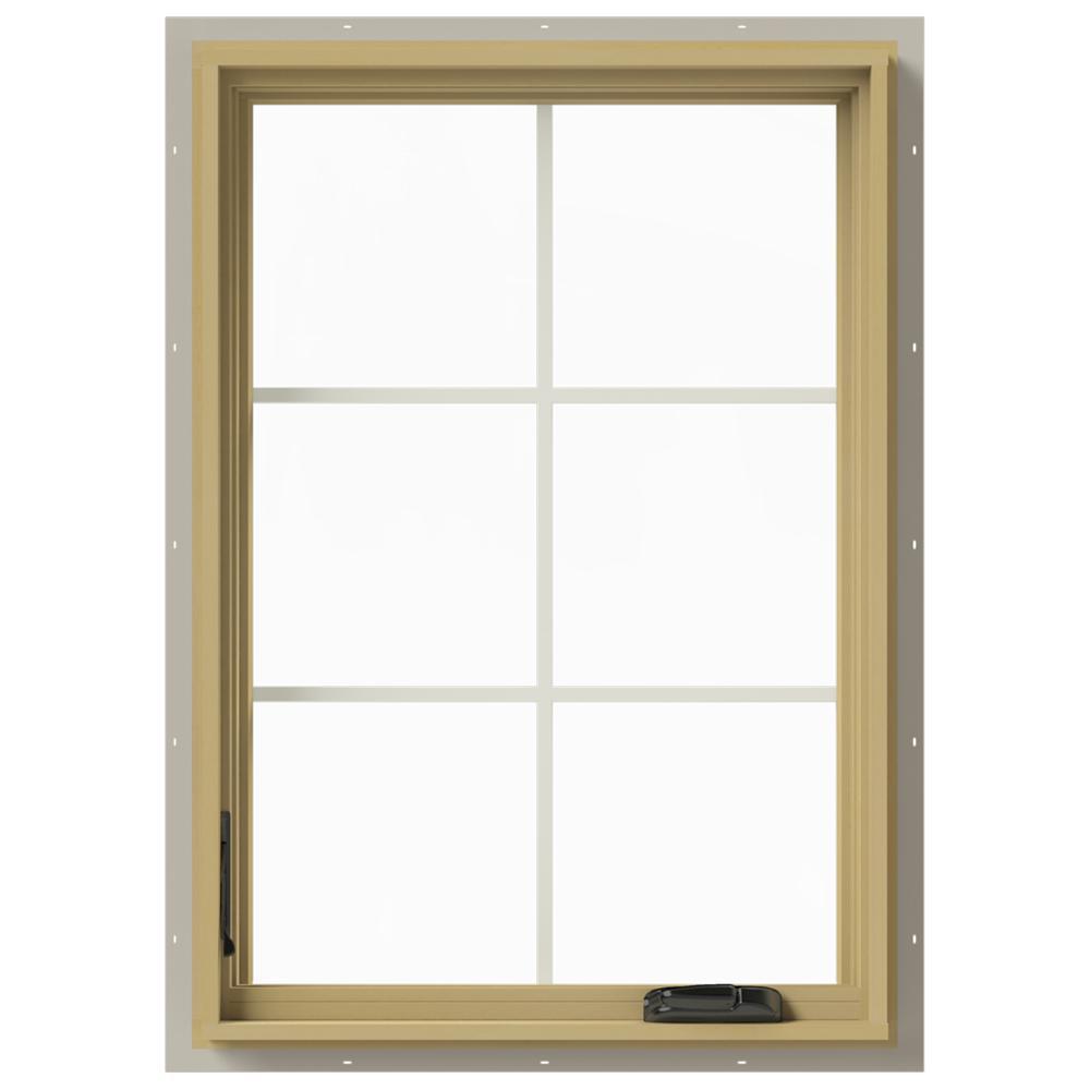 28 in. x 40 in. W-2500 Left-Hand Casement Aluminum Clad Wood Window