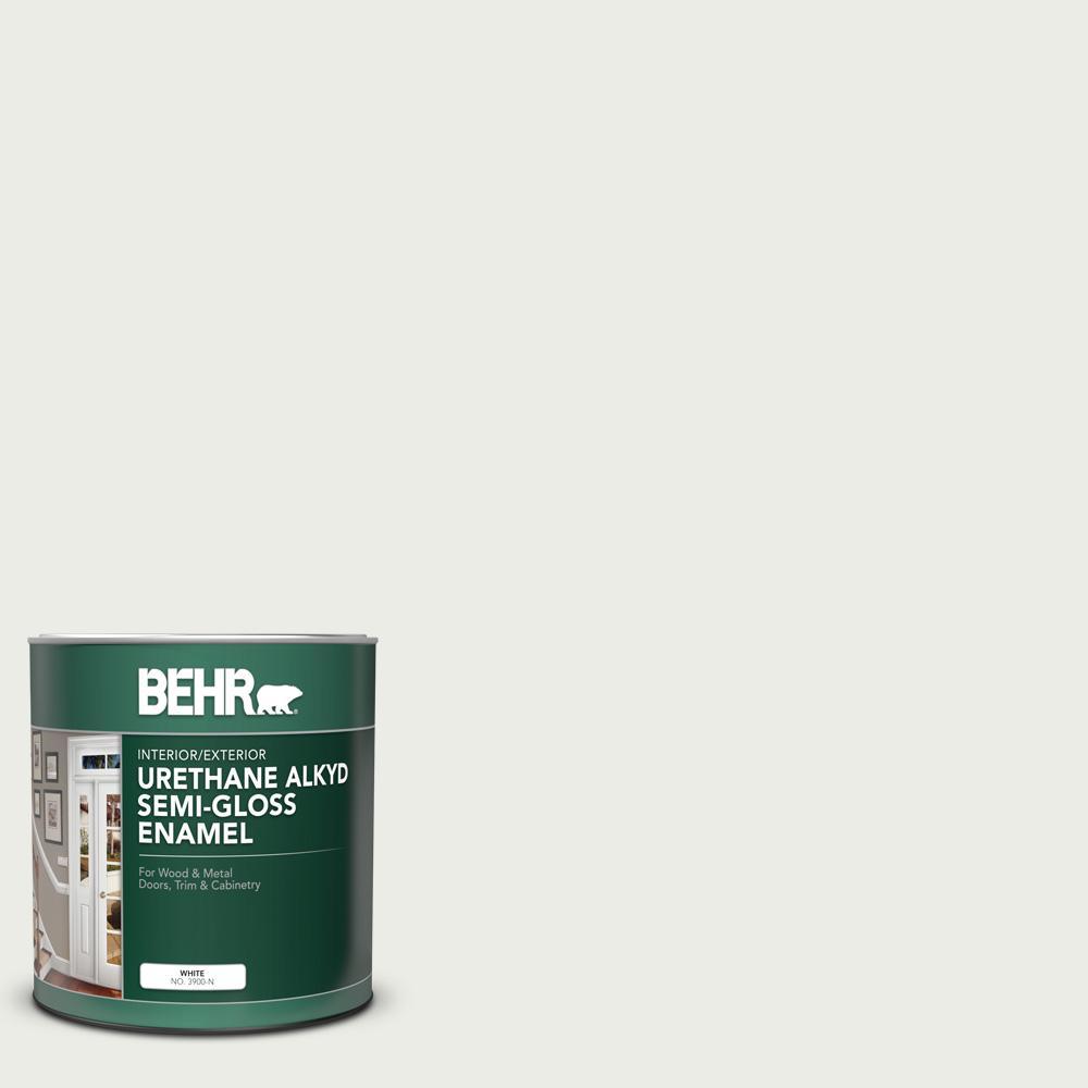 1 qt. #52 White Semi-Gloss Enamel Urethane Alkyd Interior/Exterior Paint
