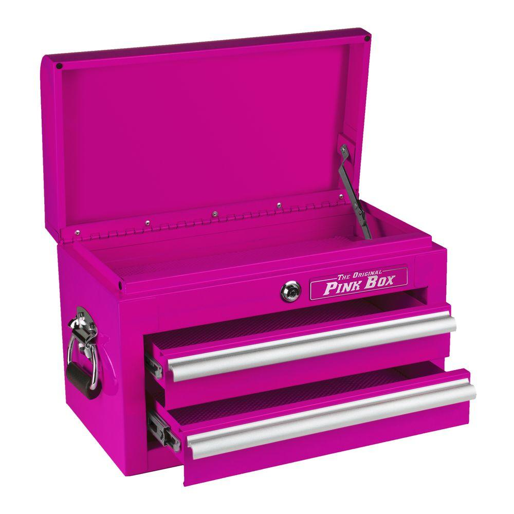 The Original Pink Box 18 in. 2-Drawer Mini Chest, Pink