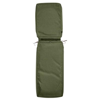 Montlake Water-Resistant 72 in. x 21 in. x 3 in. Patio Chaise Lounge Cushion Slip Cover, Heather Fern Green