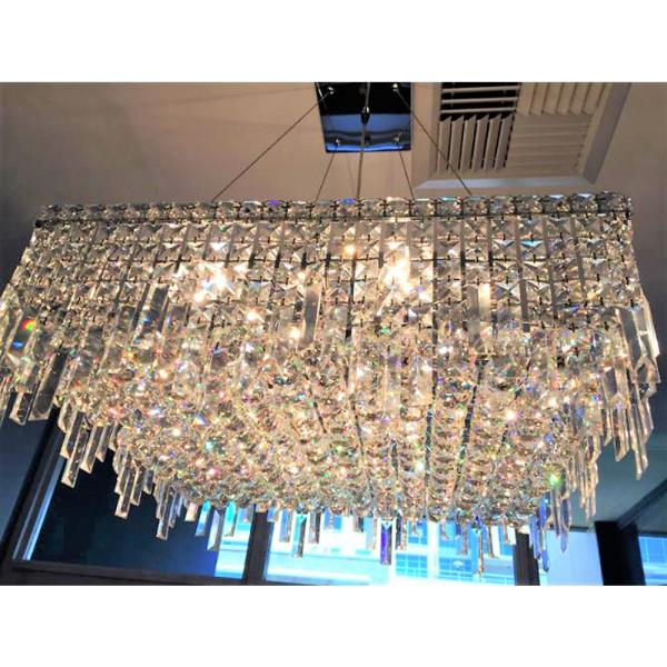 Crystal And Chrome Chandelier W83613c24
