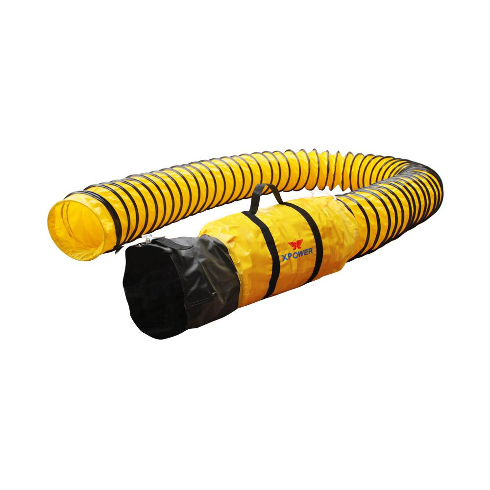 XPOWER Extra Flexible 8 in. in Dia 25 ft. Ventilation PVC...