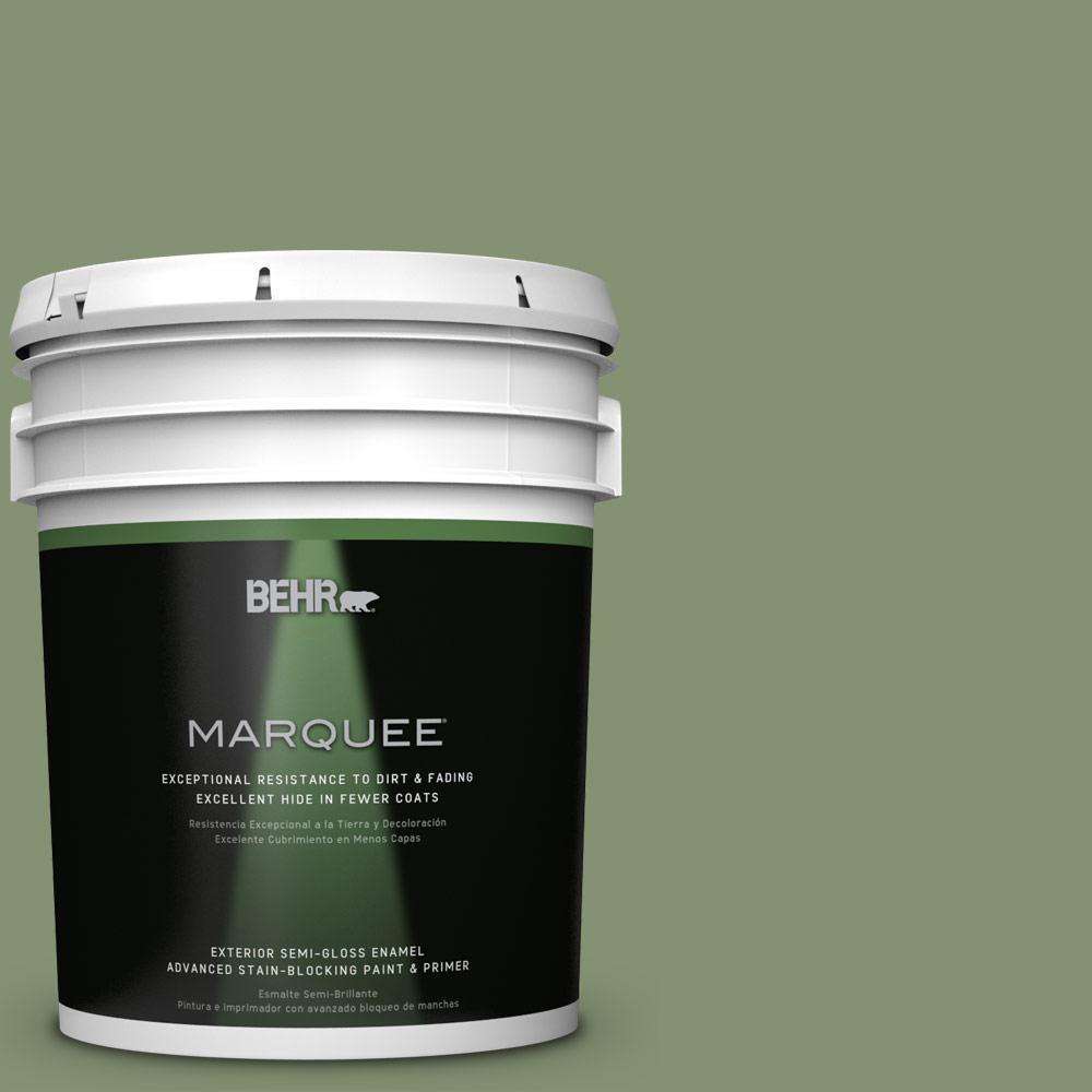 5-gal. #BIC-26 Aloe Plant Semi-Gloss Enamel Exterior Paint