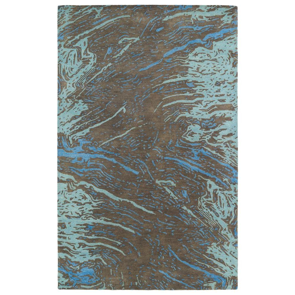 Brushstrokes Chocolate 5 ft. x 7 ft. 9 in. Area Rug